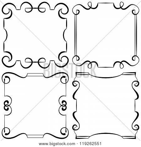 Vector Illustration. Set Of Decorative Frameworks