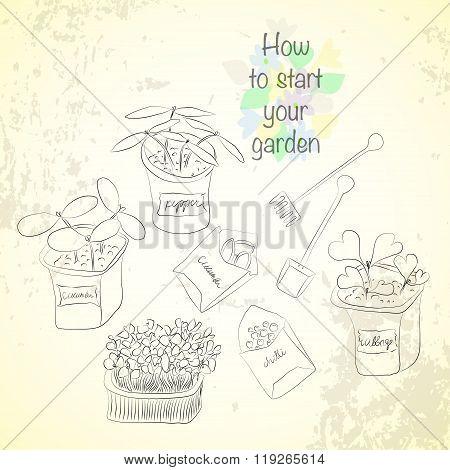 Sketch Gardening Set