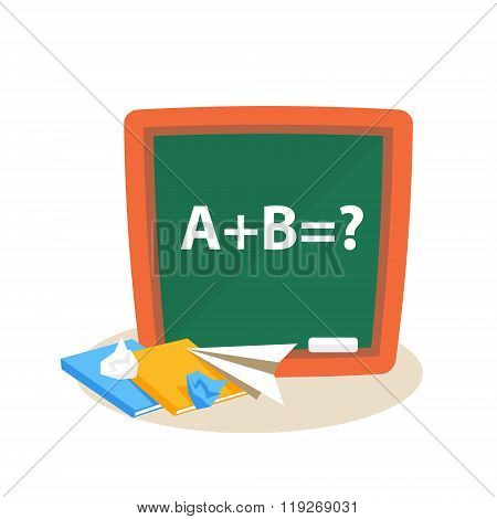 Math Lesson. Education Design Vector Illustration
