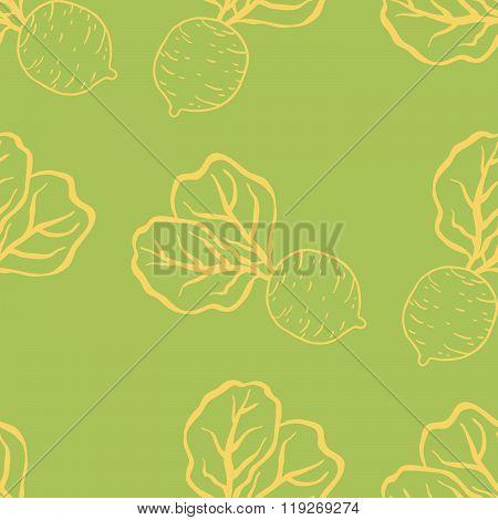 Fun beetroot and radish pattern