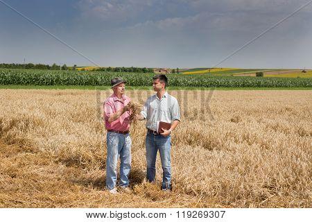 Farmers In Wheat Field