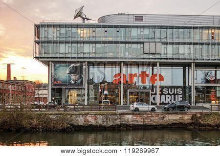 Arte (association Relative à La Télévision Européenne) Television Headquarter In Strasbourg