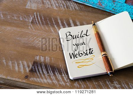 Handwritten Text Build Your Website