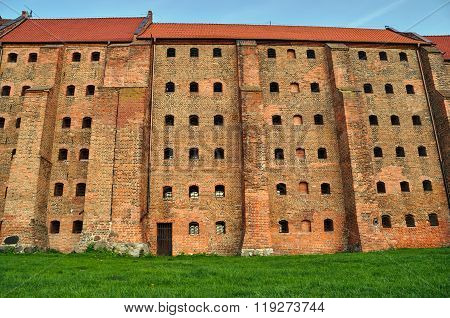 Gothic granary with brick in Grudziadz