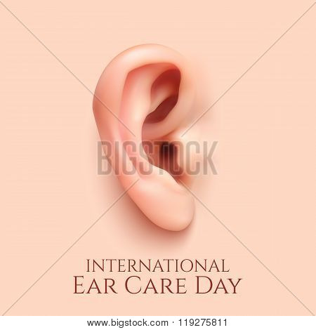 International ear care day  background.