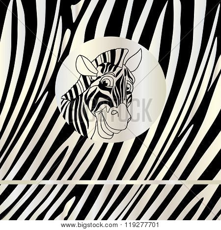 Background pattern Zebra head