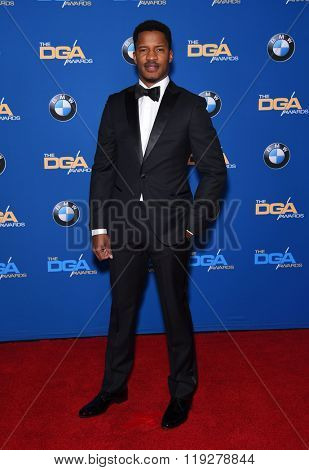 LOS ANGELES - FEB 06:  Nate Parker arrives to the Directors Guild Awards 2016  on February 06, 2016 in Century City, CA.