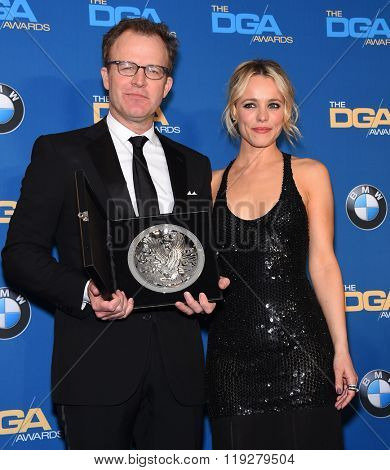LOS ANGELES - FEB 06:  Tom McCarthy & Rachel McAdams arrives to the Directors Guild Awards 2016  on February 06, 2016 in Century City, CA.