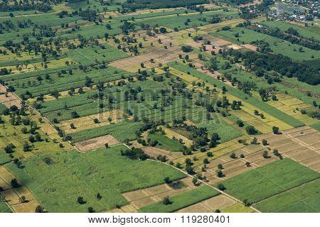 Thailand Isan Buri Ram Landscape Fields