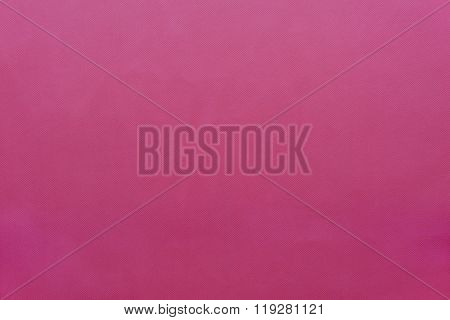Grained Textured Background From Fabric Of Bright Cowberry Monochrome Color
