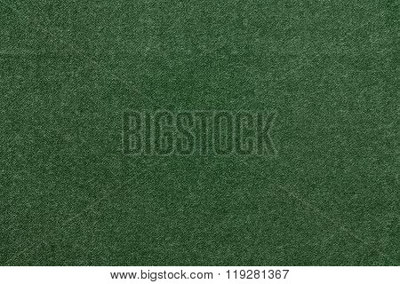 Speckled Textured Monochrome Background From Fabric Of Green Color