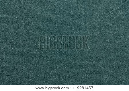 Speckled Textured Background From Fabric Of Dark Blue Green Color