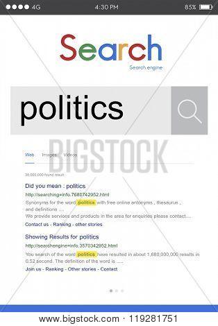 Politics Political Government Debate Conflict Society Concept