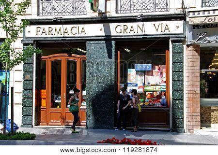 Pharmacy shop, Granada.