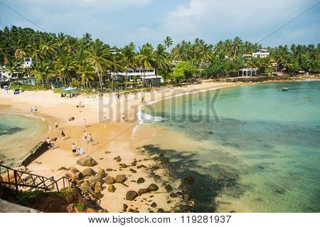 Tropical Beach View From Observation Deck, Horizontal