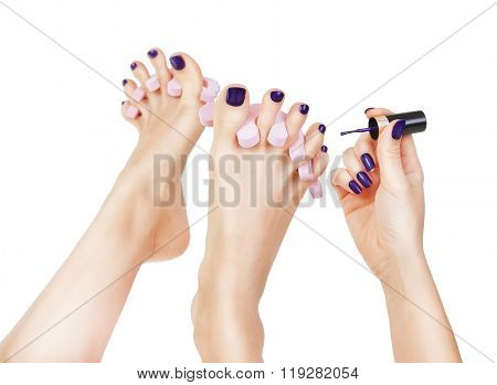 Pedicure Process - Purple Manicure And Pedicure