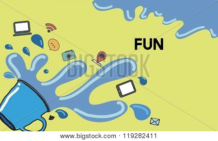 Fun Enjoyment Happiness Joyment Amusement Concept