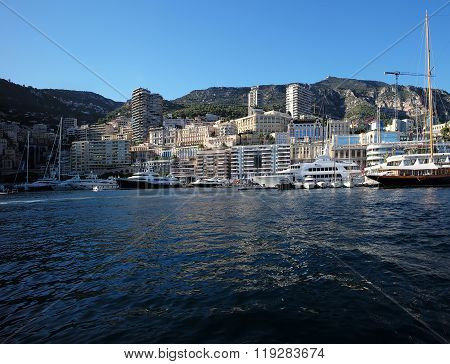Marina Of Monte Carlo With Boats