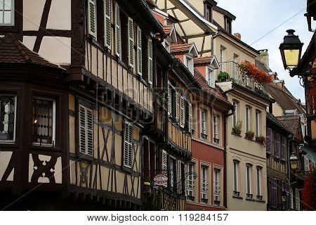 Row Of Houses In Colmar