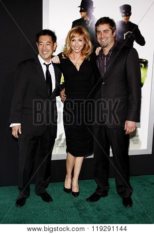 Grant Imahara, Tory Belleci and Kari Byron of MythBusters at the Los Angeles premiere of