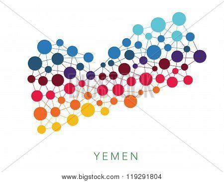 dotted texture Yemen vector background