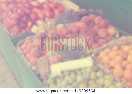 Blur Fruit Stall