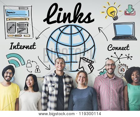 Links Global Communication Connection Hyperlink Concept