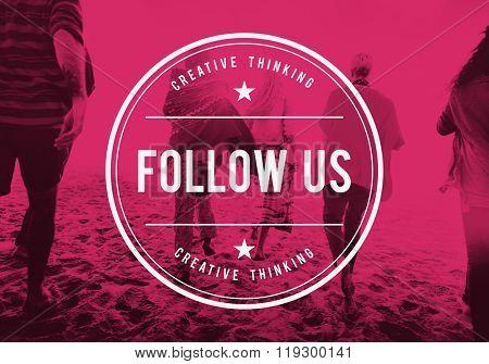 Follow Us Follower Social Media Sharing Concept