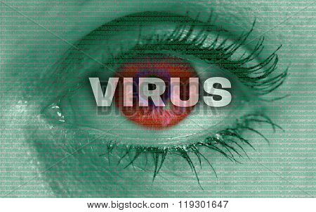 Virus Eye Looks At Viewer Concept