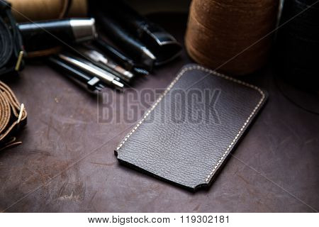 Leather Crafting Tools With Cellphone Case