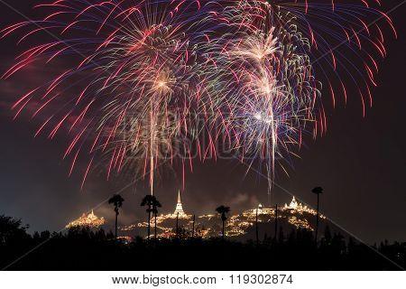 Fireworks Festival At Phetchaburi, Thailand
