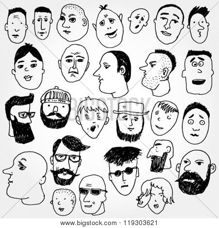 Set of Comic Faces