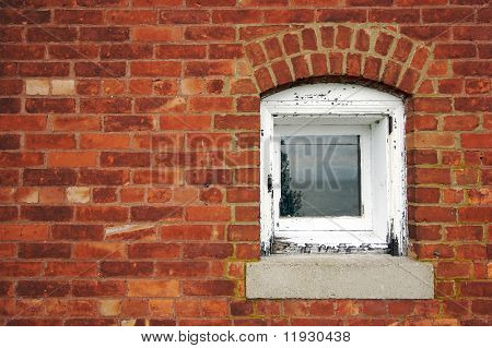 Old Brick Wall & Window from lighthouse building on Lake Superior