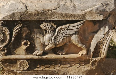 Lion with Wings Relief from Ephesus, Turkey