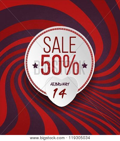 Valentine's Sale Grunge Background