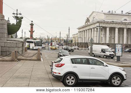 View Of The Birzhevaya Square In St. Petersburg
