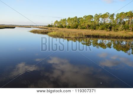Florida inland waterway near the St Johns River, Florida, USA