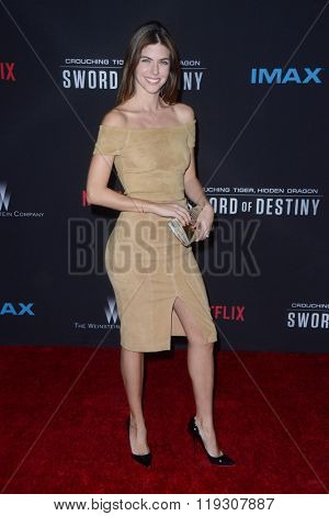 LOS ANGELES - FEB 22:  Stephanie Cayo at the Crouching Tiger  Hidden Dragon - Sword of Destiny Premiere at the AMC Universal Citywalk on February 22, 2016 in Universal City, CA