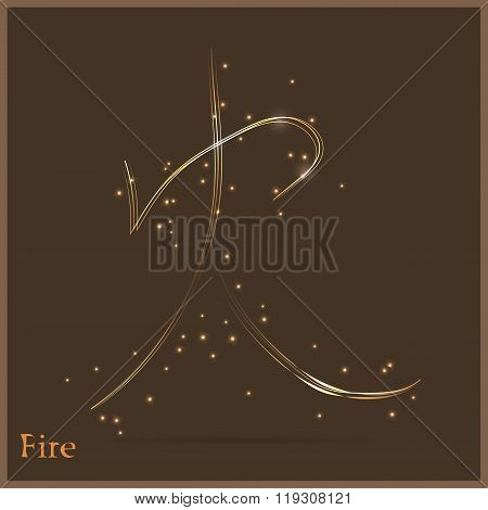 Character gold fire.