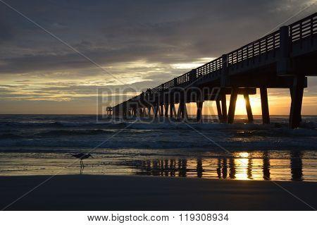 Fishing pier in Florida at sunrise