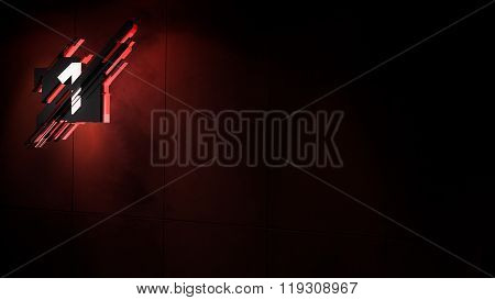 Layout Template Number 3D Motion Graphics Design Red Background