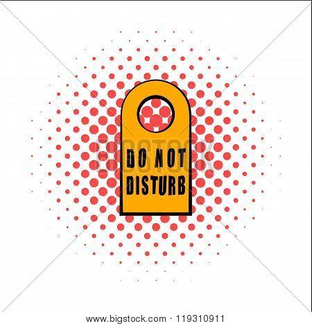 Label do not disturb comics icon