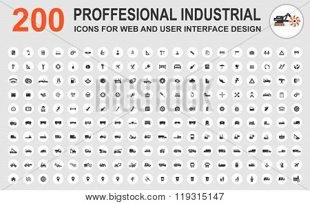 Professional industrial icons