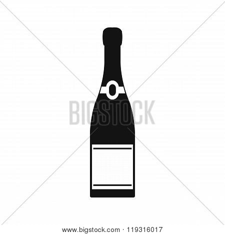 Champagne bottle icon, simple style