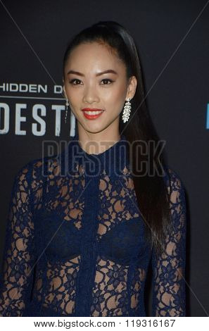 LOS ANGELES - FEB 22:  Shuya Chang at the Crouching Tiger  Hidden Dragon - Sword of Destiny Premiere at the AMC Universal Citywalk on February 22, 2016 in Universal City, CA