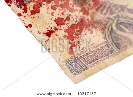 50 Gambian Dalasi Bank Note, Bloody