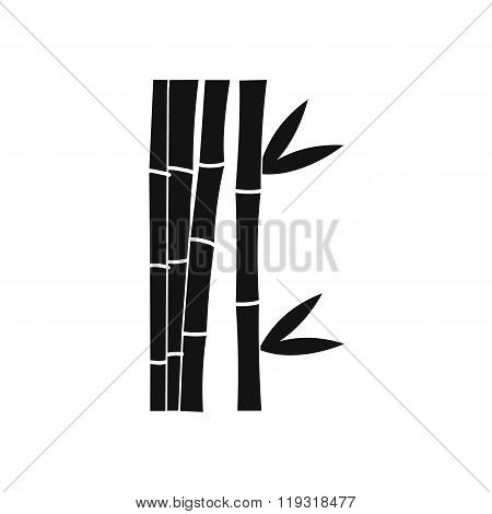 Bamboo stems icon, simple style