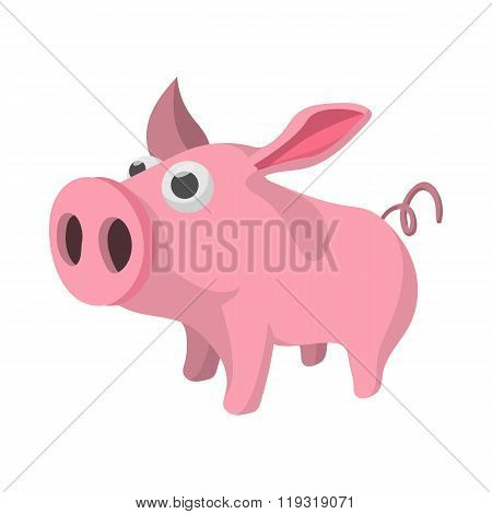 Pig cartoon icon