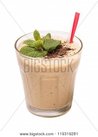 Chocolate smoothie isolated