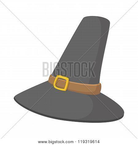 pilgrim hat cartoon icon
